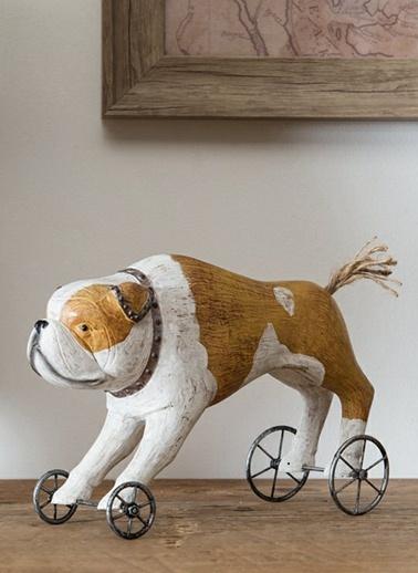 Tekerlekler Üzerinde Reçine Bulldog-Warm Design
